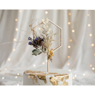 Cake Topper Hexagon Sechseck - Holz